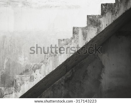 Stairs Architecture details building Black and White - stock photo