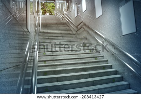 Stairs at a Subway Station - stock photo