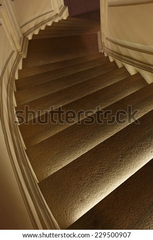 stairs at night - stock photo