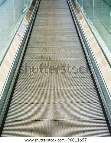 Stairs automatically. The supermarket. - stock photo