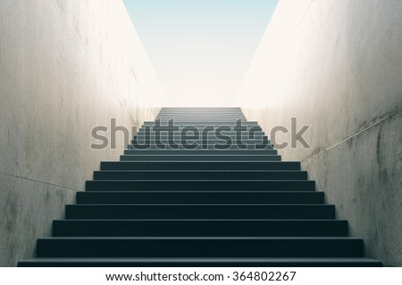 Stairs from underground upward - stock photo