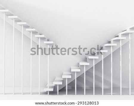 stairs going up and down.abstraction. - stock photo