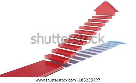 stairs going upward - stock photo