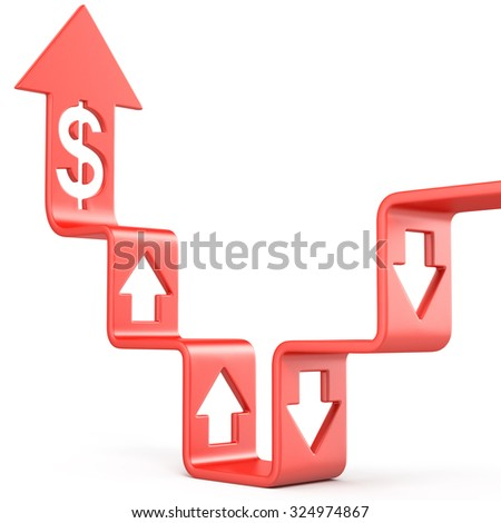 Stairs growing chart - stock photo