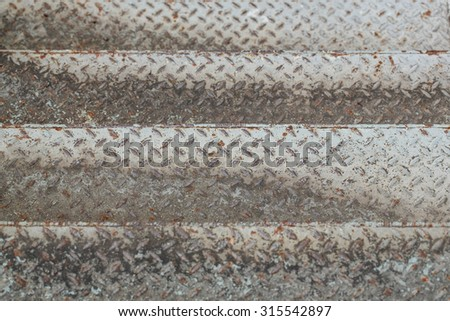Stairs grunge of old metal diamond plate background. - stock photo