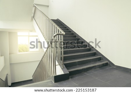 stairs in office - stock photo