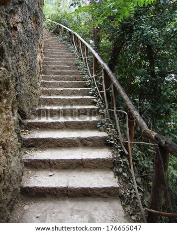 stairs in the countryside - stock photo