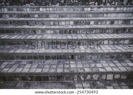 stairs modern concrete - stock photo