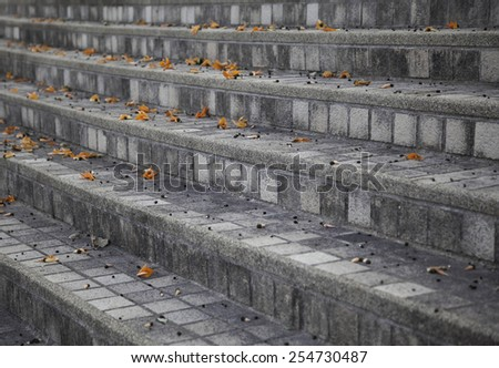stairs modern concrete ,nature - stock photo