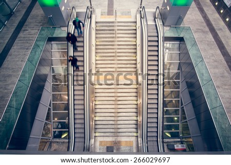 stairs of the metro station - stock photo