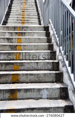 stairs of the overpass in the city. - stock photo