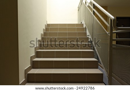 Stairs on staircase - stock photo