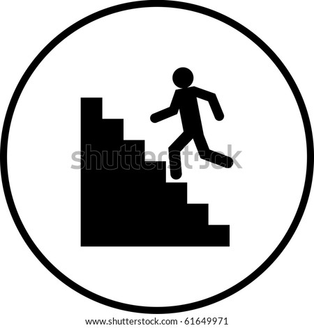 stairs symbol - stock photo