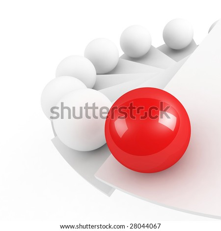 stairs to success leadership conception close-up - stock photo
