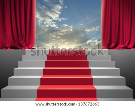 stairway to the sky - stock photo