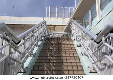 Stairway up,outdoor - stock photo