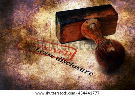 Stamp approved on Lease disclosure - stock photo