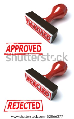 stamp approved rejected - stock photo