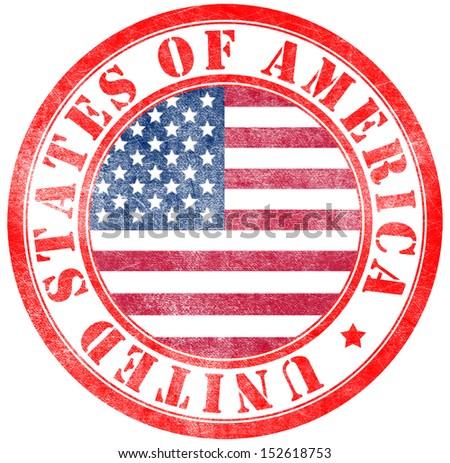 Stamp of USA - stock photo