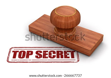 Stamp Top secret (clipping path included) - stock photo