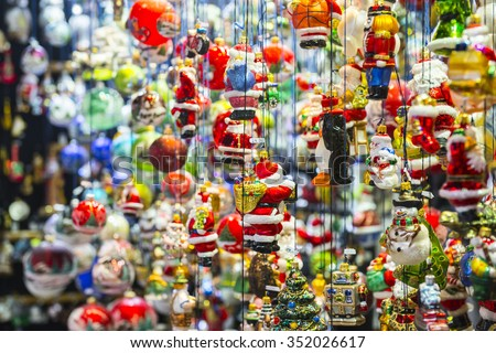 Stand at Christmas Market in Munich, Germany - stock photo