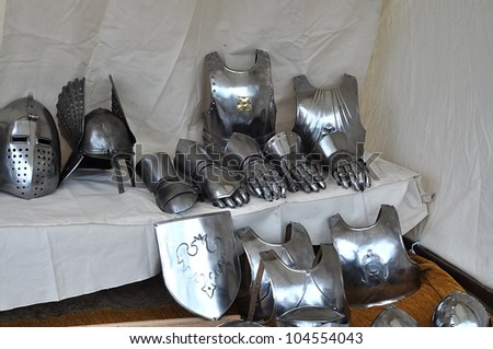 stand of armor for sale - stock photo