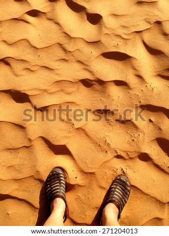 Stand on desert - stock photo