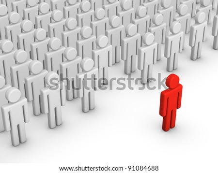 Stand out - stock photo