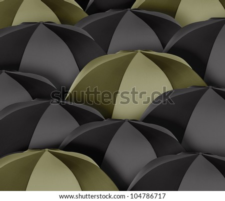 Stand out of a crowd , individuality - stock photo