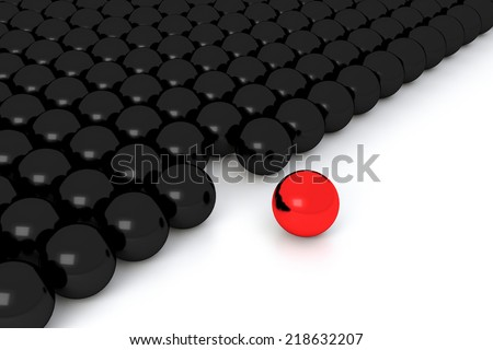 stand out of the crowd - stock photo