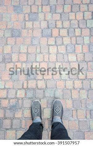 stand rock walkway - stock photo