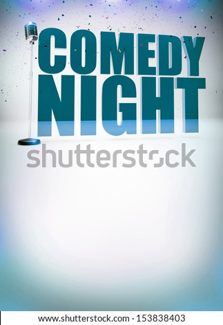 Stand up show abstract invitation poster background with space - stock photo
