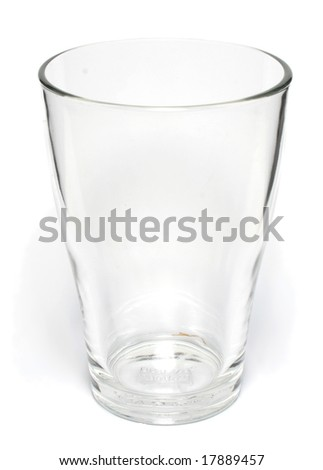 Standalone empty glass on white background - stock photo