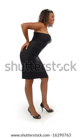 Standing fashion model - stock photo
