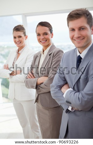 Standing public relations agency introducing itself - stock photo