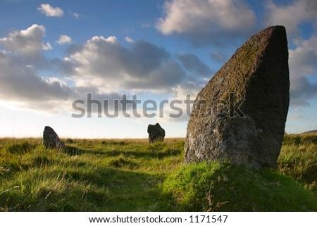 standing stones - stock photo