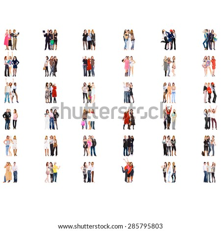 Standing Together Corporate Teamwork  - stock photo