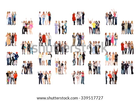 Standing Together Office Culture  - stock photo