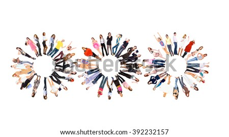 Standing Together People Diversity  - stock photo