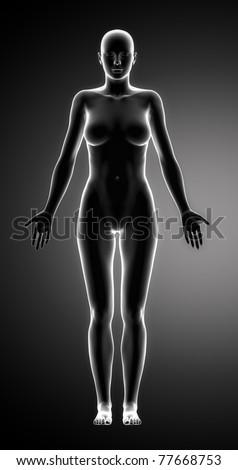 Standing woman - stock photo