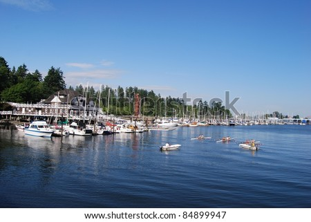 Stanley Park Waterfront in Vancouver, Canada - stock photo