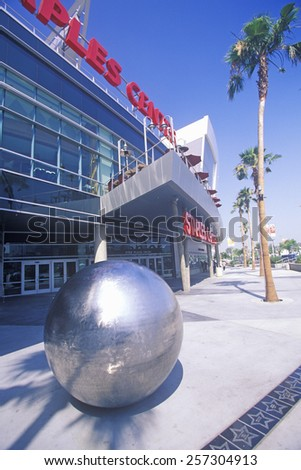 Staples Center, home to the NBA's Los Angeles Lakers, Los Angeles, California - stock photo