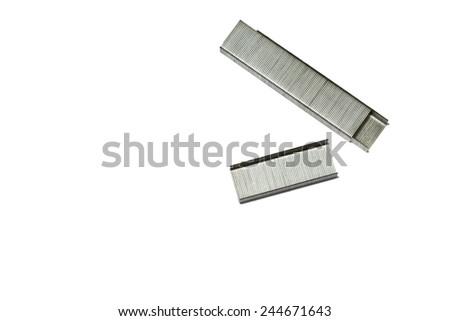 Staples isolated - stock photo