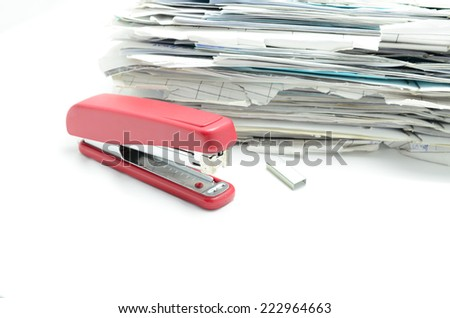 Staples on isolated white background - stock photo