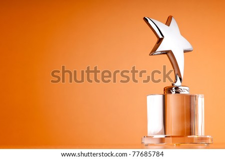 Star award against gradient background - stock photo