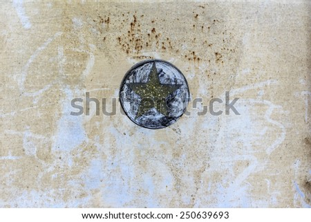 Star Band Oxidized metal surface making an abstract texture, high resolution. - stock photo