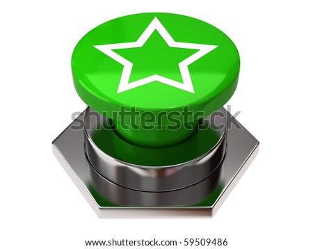 Star button - stock photo