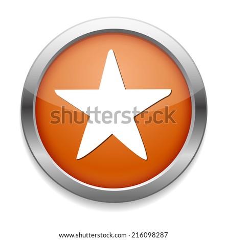 Star favorite web icon - stock photo