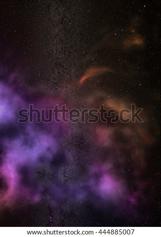 "Star field in space a nebulae and a gas congestion. ""Elements of this image furnished by NASA"". - stock photo"