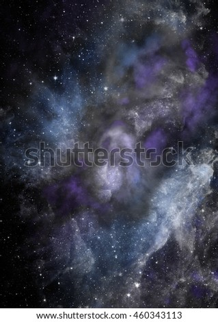 """Star field in space a nebulae and a gas congestion. """"Elements of this image furnished by NASA"""". - stock photo"""